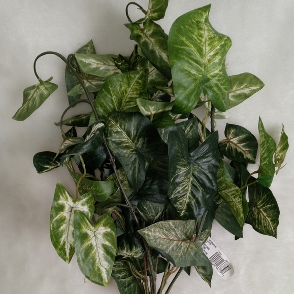 6 Bushes Hanging Artificial Syngonium Vine Bush